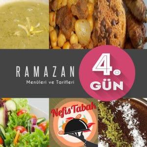 2015 Ramazan İftar Menüsü 4. Gün