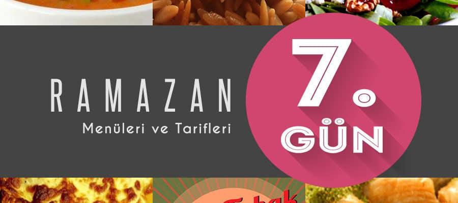 2015 Ramazan İftar Menüsü 7. Gün