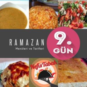 2015 Ramazan İftar Menüsü 9. Gün